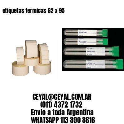 etiquetas termicas 62 x 95
