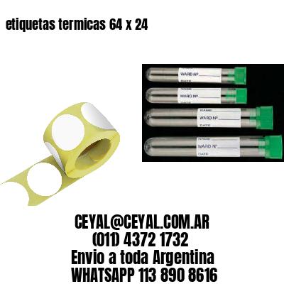 etiquetas termicas 64 x 24