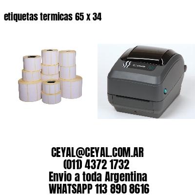 etiquetas termicas 65 x 34