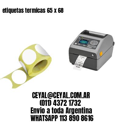 etiquetas termicas 65 x 68