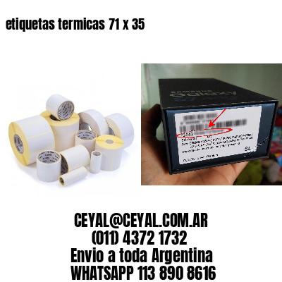 etiquetas termicas 71 x 35