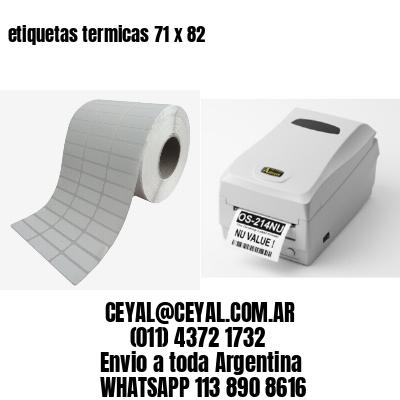 etiquetas termicas 71 x 82