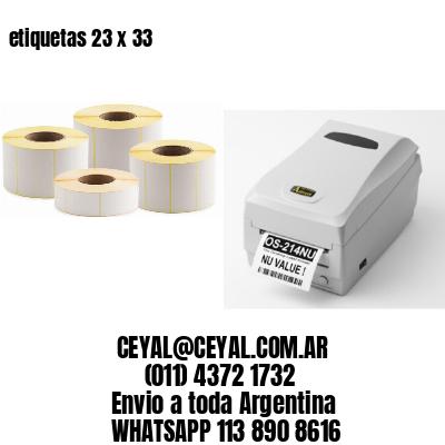 etiquetas 23 x 33