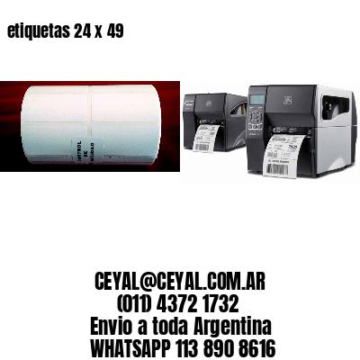 etiquetas 24 x 49