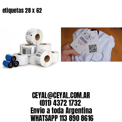 etiquetas 28 x 62