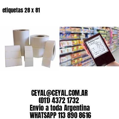 etiquetas 28 x 81