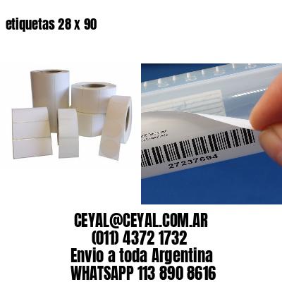etiquetas 28 x 90