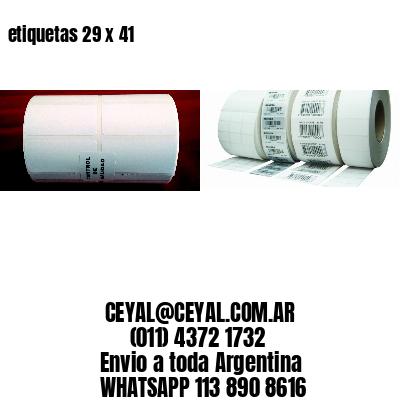 etiquetas 29 x 41