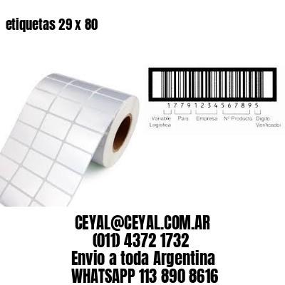 etiquetas 29 x 80