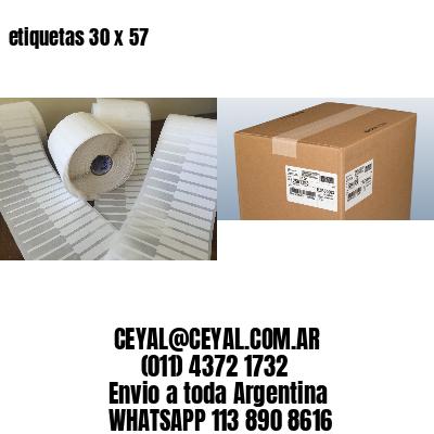 etiquetas 30 x 57
