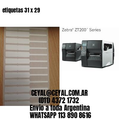 etiquetas 31 x 29