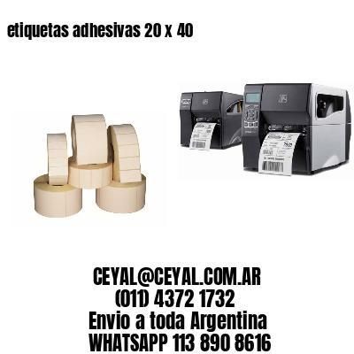 etiquetas adhesivas 20 x 40