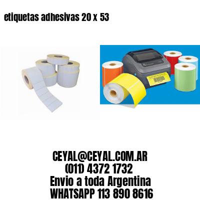 etiquetas adhesivas 20 x 53