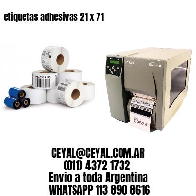 etiquetas adhesivas 21 x 71