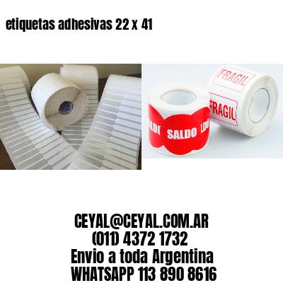 etiquetas adhesivas 22 x 41