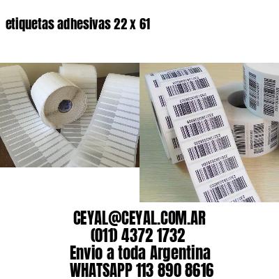 etiquetas adhesivas 22 x 61