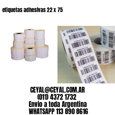 etiquetas adhesivas 22 x 75