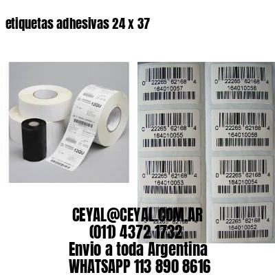 etiquetas adhesivas 24 x 37