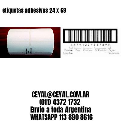 etiquetas adhesivas 24 x 69