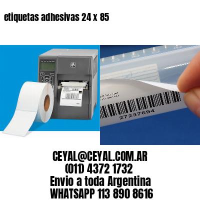 etiquetas adhesivas 24 x 85