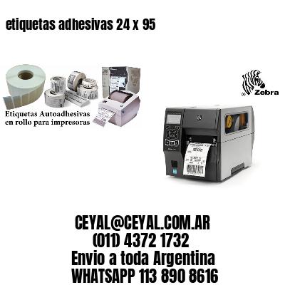 etiquetas adhesivas 24 x 95