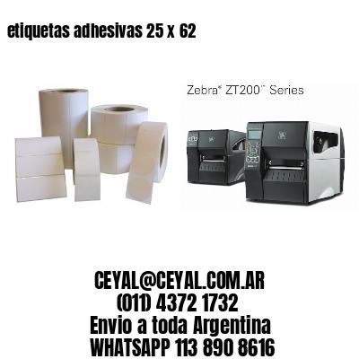 etiquetas adhesivas 25 x 62