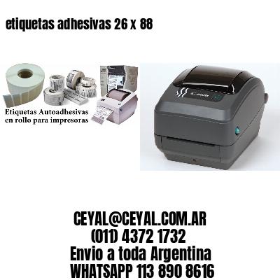 etiquetas adhesivas 26 x 88