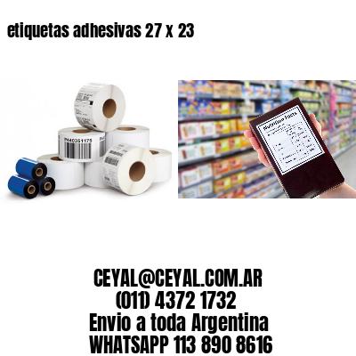 etiquetas adhesivas 27 x 23