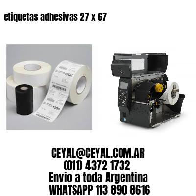etiquetas adhesivas 27 x 67