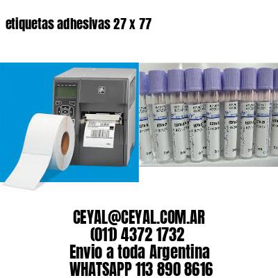 etiquetas adhesivas 27 x 77