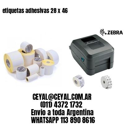 etiquetas adhesivas 28 x 46
