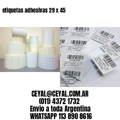etiquetas adhesivas 29 x 45
