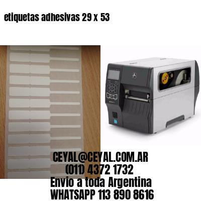 etiquetas adhesivas 29 x 53