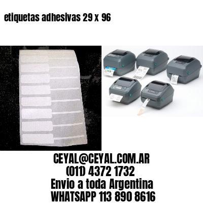 etiquetas adhesivas 29 x 96