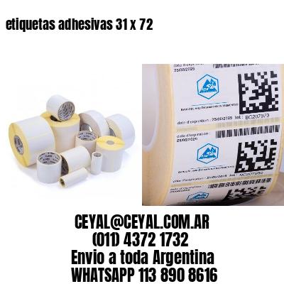 etiquetas adhesivas 31 x 72