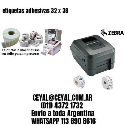 etiquetas adhesivas 32 x 38