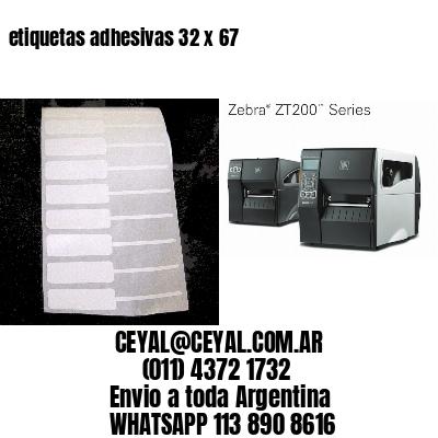 etiquetas adhesivas 32 x 67