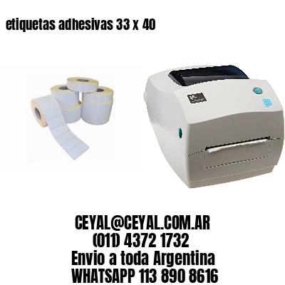 etiquetas adhesivas 33 x 40