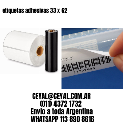 etiquetas adhesivas 33 x 62