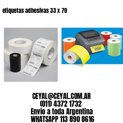 etiquetas adhesivas 33 x 70