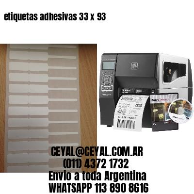 etiquetas adhesivas 33 x 93