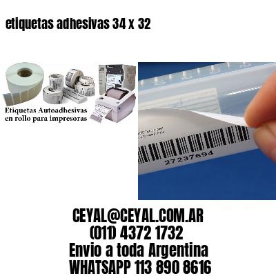 etiquetas adhesivas 34 x 32
