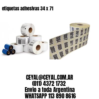 etiquetas adhesivas 34 x 71