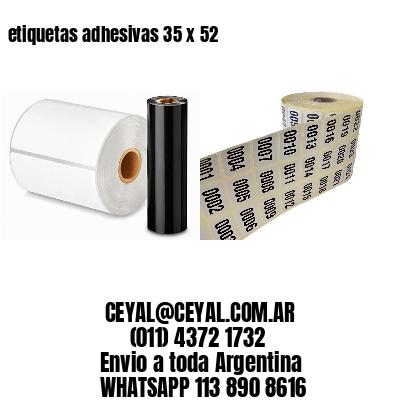 etiquetas adhesivas 35 x 52