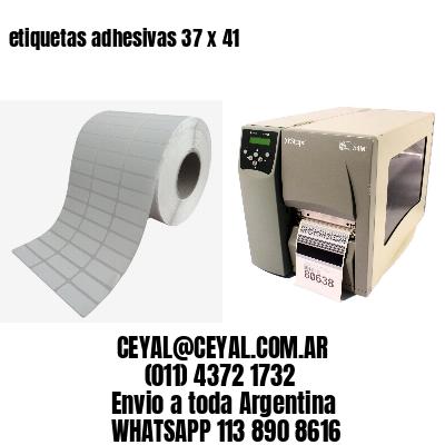 etiquetas adhesivas 37 x 41