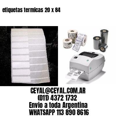 etiquetas termicas 20 x 84