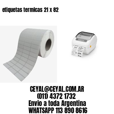 etiquetas termicas 21 x 82