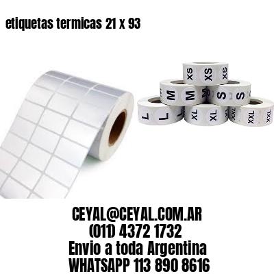 etiquetas termicas 21 x 93