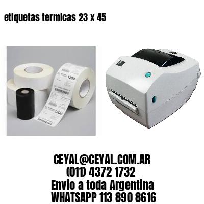 etiquetas termicas 23 x 45