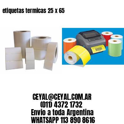 etiquetas termicas 25 x 65